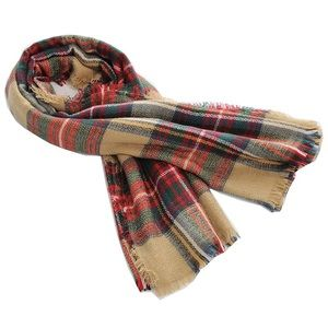 Accessories - ⭐️4 for $20⭐️Plaid Blanket Scarf